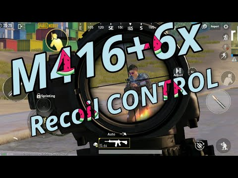 How To Control Recoil (M416+6x) | Attachment Of M416+6x Control Recoil |