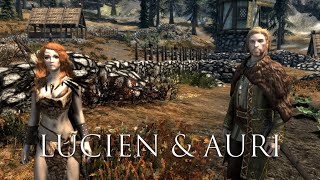 Lucien Flavius and Auri - Song of the Green - All Conversations - Skyrim Follower Mod Interactions