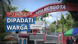 Suasana Ramai TPU Bergota Semarang saat Lebaran Idul Fitri 1441 Hijriah