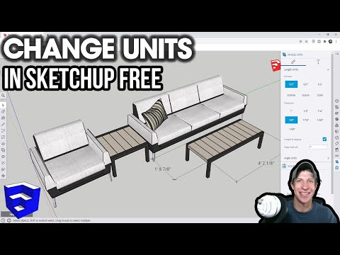 How to CHANGE UNITS in SketchUp Free (Online Version Tutorial)