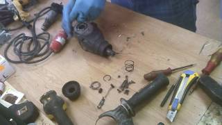 How to repair dewalt D25123 hammer drill armature gears assembly