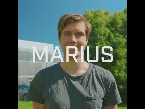 Marius er sommerstudent i SINTEF. Video: Magnus Biringvad/SINTEF