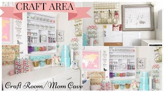 Craft Room Area ~ Tour | Dollar Tree Style & Organization Pt. 4