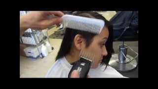 Long Hair Shaved Side Short Marella's Sexy Clipper Haircut Video / Womens Clippered Haircut