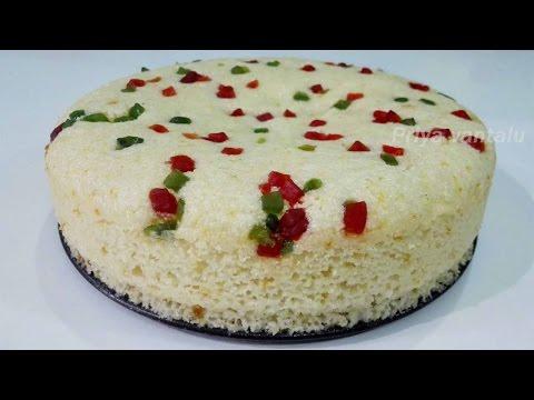 Rava Cake in Pressure Cooker - Sooji Cake Recipe - Semolina Cake