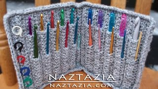 DIY Learn How to Crochet Hook Case Holder Folder Wallet - Pouch Storage for Hooks