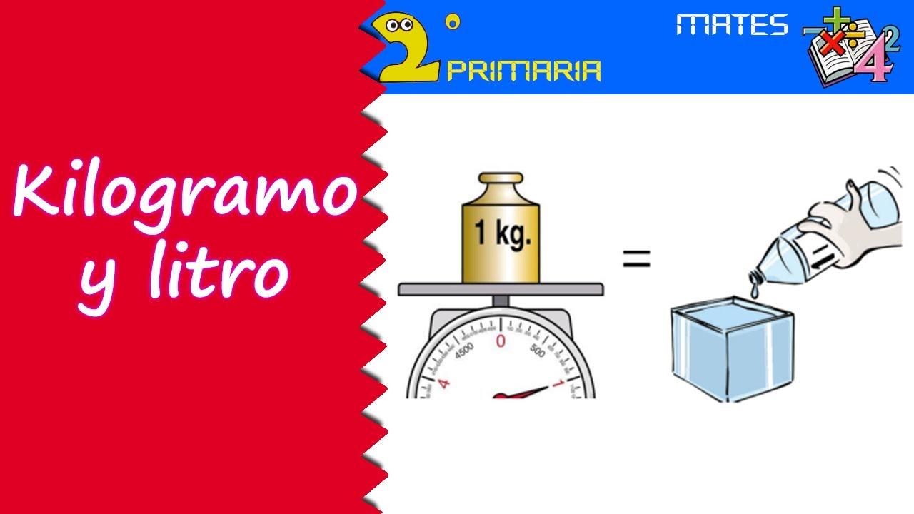 Mate, 2º Primaria. Tema 11. El kilogramo y el litro