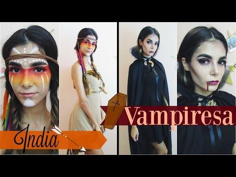 Disfraz para Halloween: India y Vampiresa | Parte 2 | Celhelíz