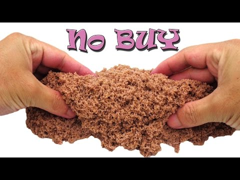 DIY Kinetic Sand with Borax, Sand, Glue, Food coloring at Home NO BUY