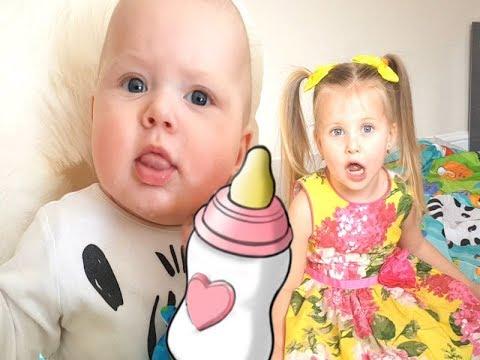 ТЫ СПИШЬ БРАТ ДЖОН Живые Куклы Эльвира нянчит малышей  как мама. Игры с детьми ясельного возраста