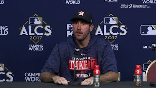 Justin Verlander on how he felt during George Springer's catch