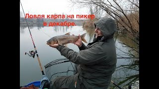 Ловля пикером на реке в декабре
