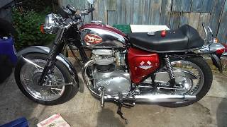 BSA A65 checking for crank end float at Performance Classics.