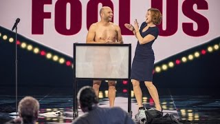 Naked Magician Fools Penn & Teller: Vinny Grosso Performing His Routine Tasteless