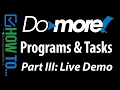 Programs and Tasks - Part III - Live Demo