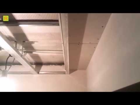 Под шторная ниша с гипсокартона на стройке