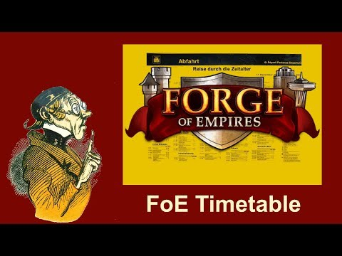FoEhints: General Timetable for Forge of Empires