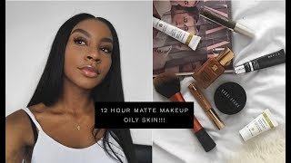 HOW TO: 12 HOUR MATTE MAKEUP ON SUPER OILY SKIN!! ACTUALLY WORKS!!!!