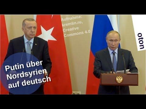 Putin mit Erdogan über Nordsyrien auf deutsch [Video]
