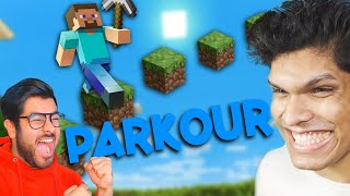 minecraft EPIC PARKOUR with @Hitesh KS : Hindi Gaming