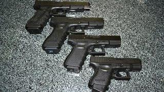 Four Glock Pistols in 9mm