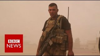 Mosul: On the frontline with elite Counter Terrorism Service - BBC News