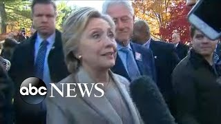 Hillary Clinton Comments After Voting For Self