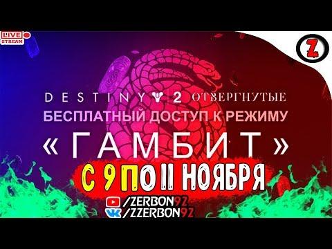 СТРИМ Destiny 2 гамбит Сюжетка