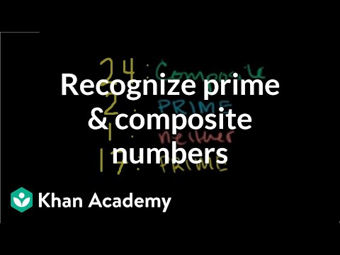 Recognizing prime and composite numbers (video) | Khan Academy