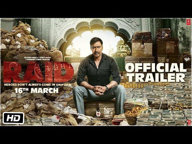 Raid Theatrical Trailer | Ajay Devgn | Ileana D'Cruz | Rajkumar Gupta
