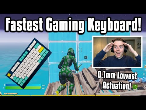 So I Tried The New FASTEST Keyboard In Fortnite... Better Than Apex Pro?
