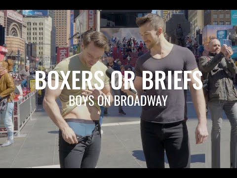 2018 | Broadway Boys answer Boxers or Briefs in Times Square | Mens Fashion in Underwear