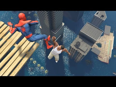 GTA 5 Water Ragdolls | Spider-Man ep.41 (Flooded Los Santos)