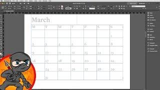 Make A  Calendar Layout In InDesign