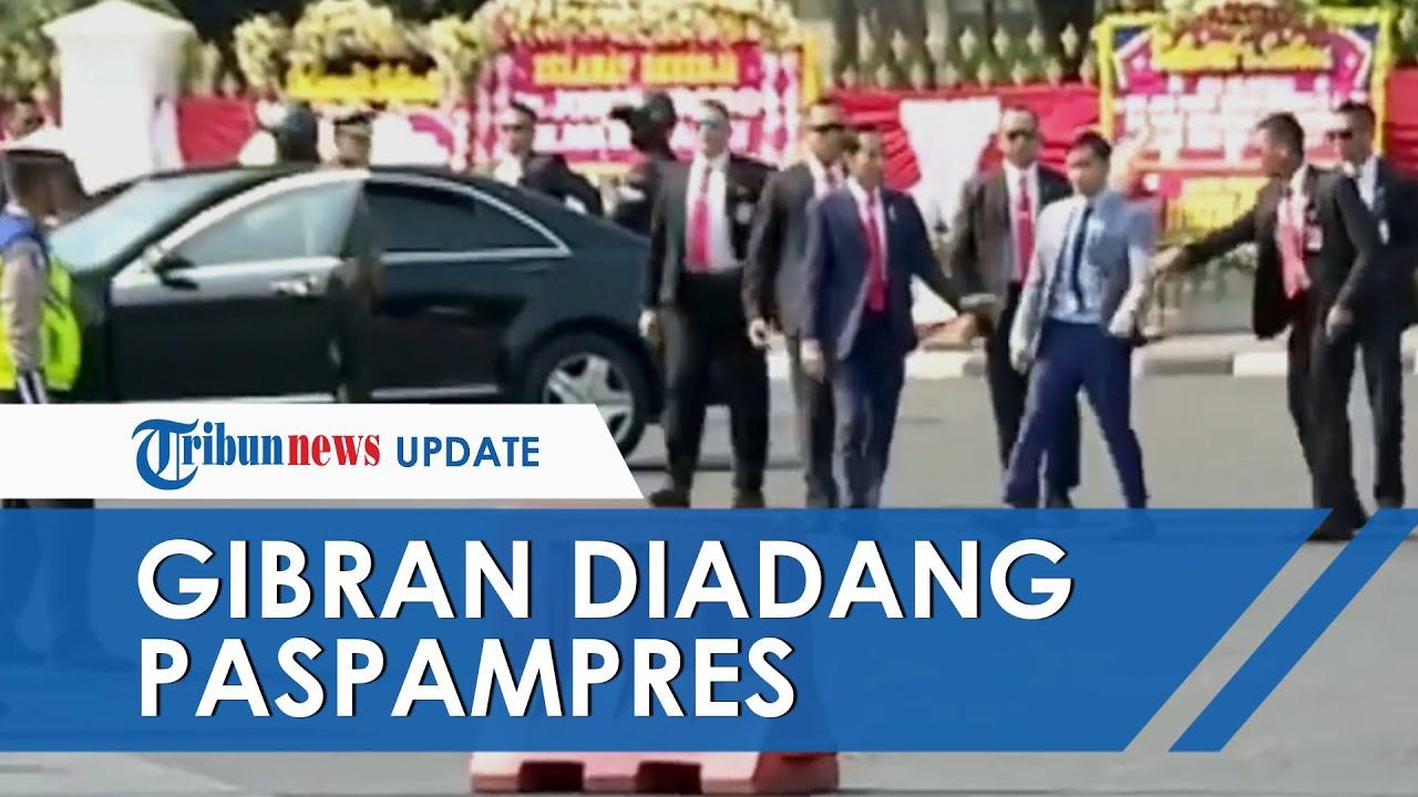 Video Detik-detik Gibran Rakabuming Diadang Paspampres, Tangan Ditarik saat Gibran Hampiri Jokowi