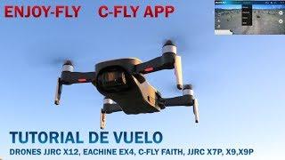 MANUAL EACHINE EX4, JJRC X12, X9, X9P, X7P ENJOY FLY, C-FLY app, DRONES CON CÁMARA