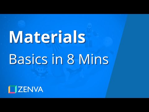 MATERIALS in Unity - Learn the Basics in 8 MINUTES - YouTube
