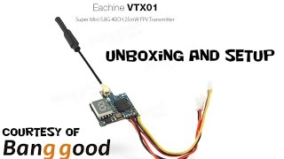 Eachine VTX01 Super Mini 5.8G 40CH 25mW FPV Transmitter (Courtesy Banggood)