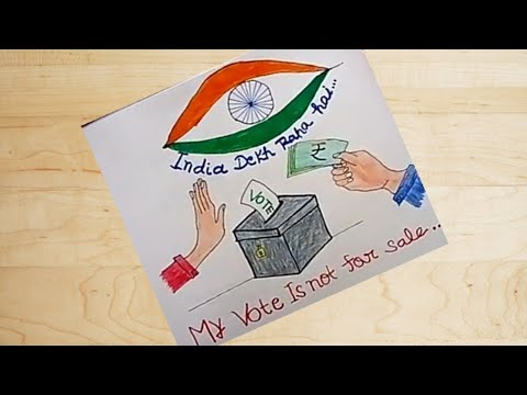 Voter Awareness Painting/Election drawing for school chart/comptition.