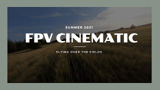 Flying over the fields FPV Cinematic