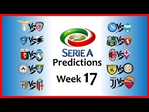 2018-19 SERIE A PREDICTIONS - WEEK 17