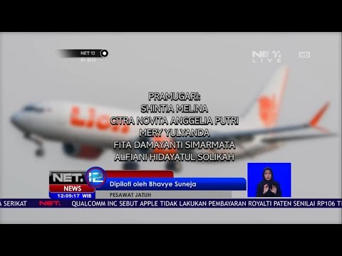 Data Crew Pesawat Lion Air JT 610 - NET 12