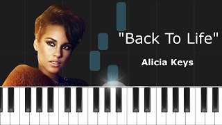 "Alicia Keys - ""Back To Life"" Piano Tutorial - Chords - How To Play - Cover"