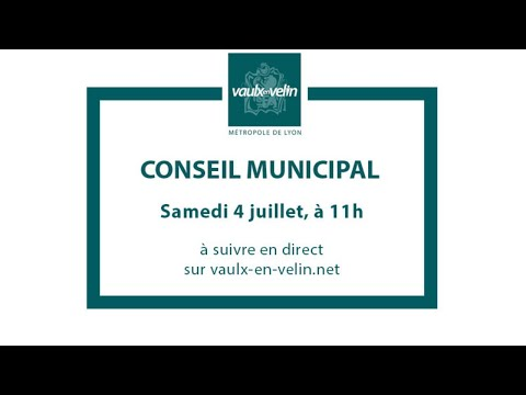 Conseil Municipal – samedi 4 juillet 2020