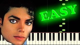 MICHAEL JACKSON - BEAT IT - Easy Piano Tutorial