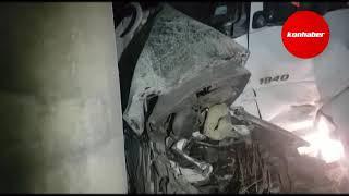 Konya'da minibüs ile tır çarpıştı: 1 ölü