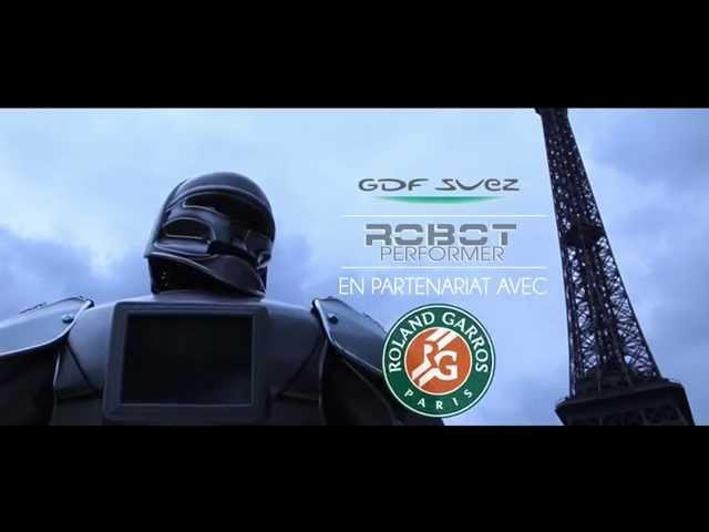 roland garros feat gdf suez, robot performer