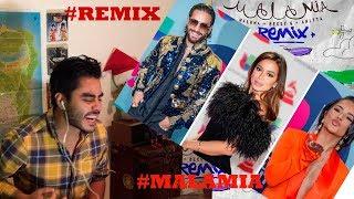 Maluma, Becky G, Anitta - Mala Mía (Remix - Lyric Video) Reacción