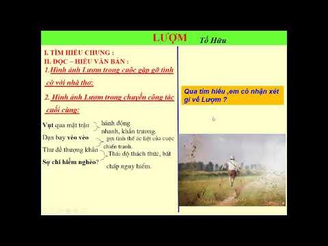 NGỮ VĂN 6 - BÀI: LƯỢM (TỐ HỮU)