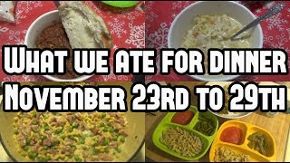 What's For Dinner?    Family Meal Ideas
